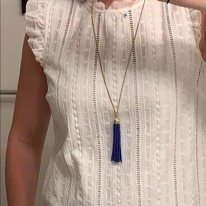 Brand New w/ tags JCrew blue tassel necklace
